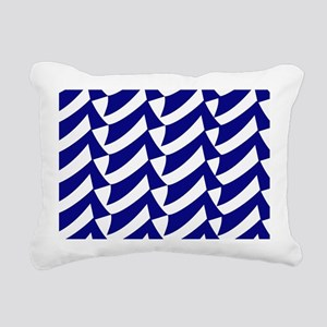 Blue and white flags Rectangular Canvas Pillow