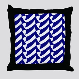 Blue and white flags Throw Pillow