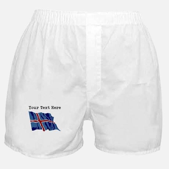 Custom Iceland Flag Boxer Shorts