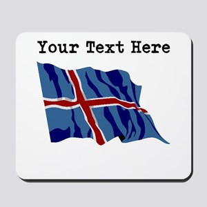 Custom Iceland Flag Mousepad