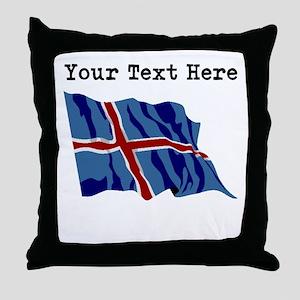 Custom Iceland Flag Throw Pillow
