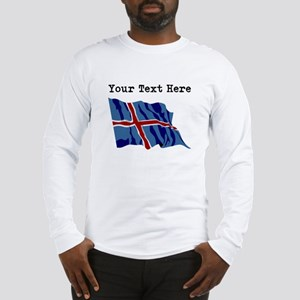 Custom Iceland Flag Long Sleeve T-Shirt