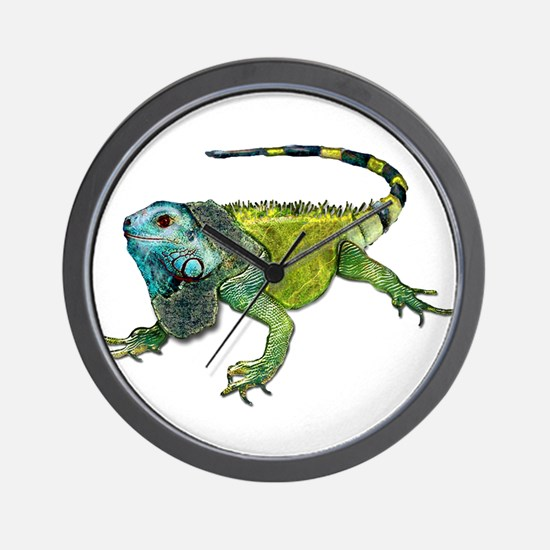 Oh How Iguana Go Home Wall Clock