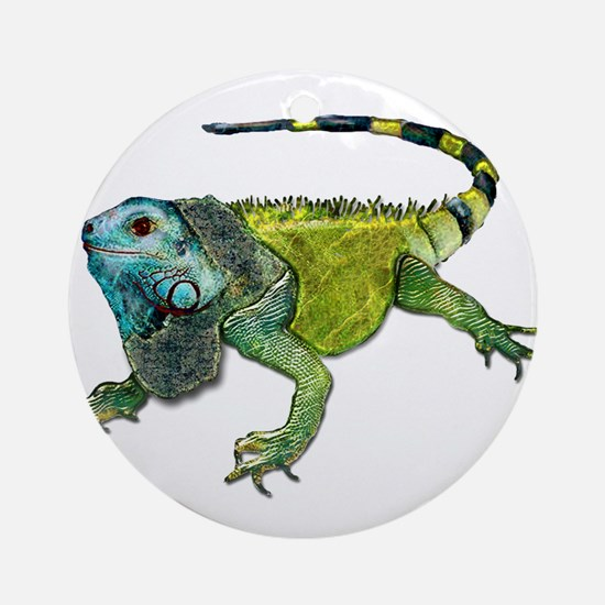 Oh How Iguana Go Home Ornament (Round)