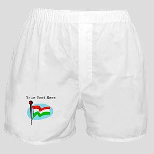 Custom Hungary Flag Boxer Shorts