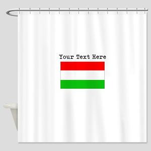 Custom Hungary Flag Shower Curtain