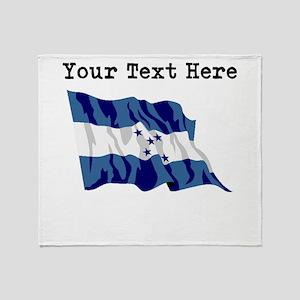 Custom Honduras Flag Throw Blanket