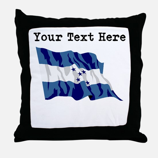 Custom Honduras Flag Throw Pillow