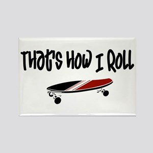 Skateboard Roll Rectangle Magnet