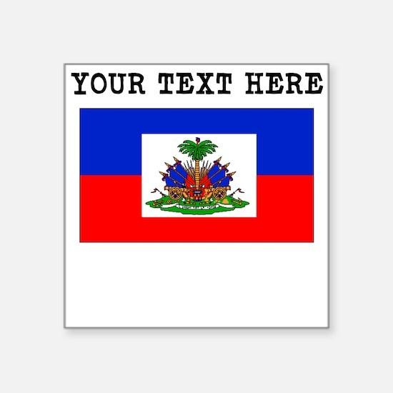 Custom Haiti Flag Sticker