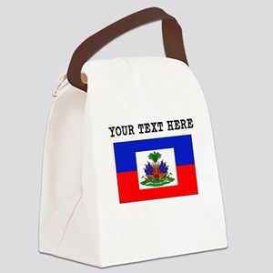 Custom Haiti Flag Canvas Lunch Bag