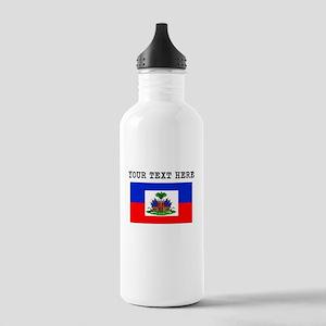 Custom Haiti Flag Water Bottle
