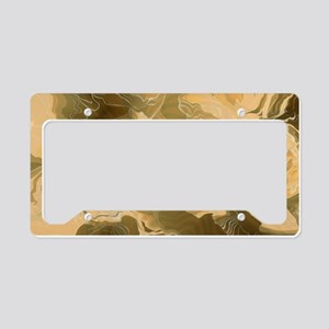Swirling Desert Camo License Plate Holder