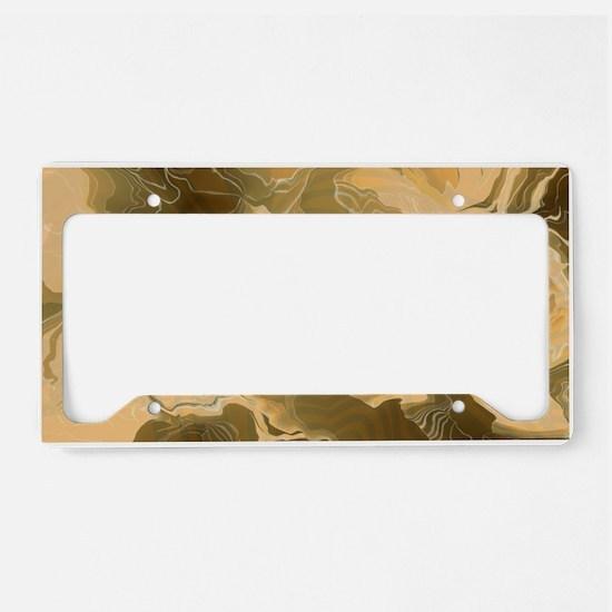 Swirling Desert Camo License Plate Holder