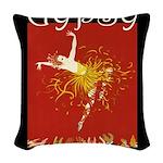 GYPSY_CAFE Woven Throw Pillow