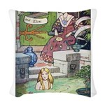 The Queen and Elise Woven Throw Pillow