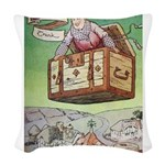 The Flying Trunk Woven Throw Pillow
