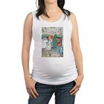 The Old Woman and Gerta Maternity Tank Top