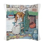 The Old Woman and Gerta Woven Throw Pillow