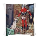 Soldier and the Dog Woven Throw Pillow