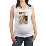 CINDERELLA2_BLUE Maternity Tank Top