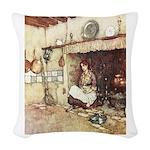CINDERELLA2_GREEN Woven Throw Pillow
