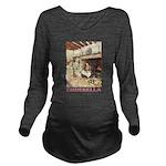 CINDERELLA2_PINK Long Sleeve Maternity T-Shirt