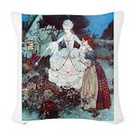 CINDERELLA_GREEN Woven Throw Pillow