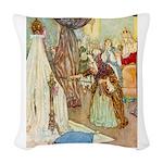 Sleeping Beauty_RED Woven Throw Pillow