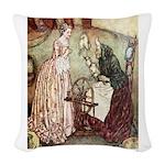 Sleeping Beauty2_BLUE Woven Throw Pillow