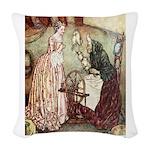 Sleeping Beauty2_GREEN Woven Throw Pillow