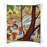 Tennie Weenies084 Woven Throw Pillow