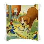 Tennie Weenies085 Woven Throw Pillow