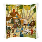 Tennie Weenies081 Woven Throw Pillow