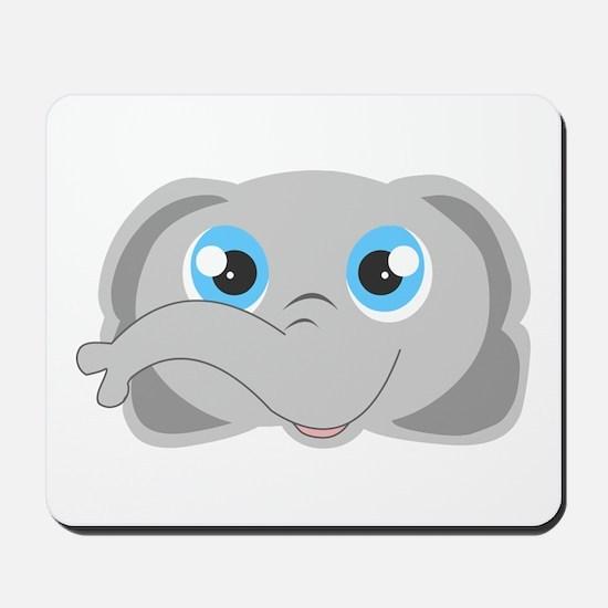 Cute Elephant Head Cartoon Mousepad