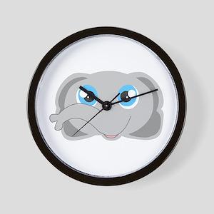 Cute Elephant Head Cartoon Wall Clock