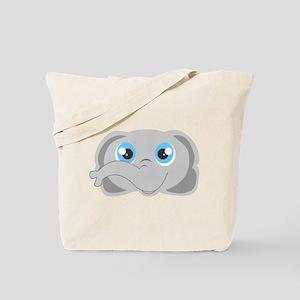 Cute Elephant Head Cartoon Tote Bag