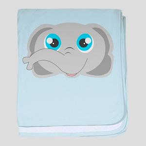 Cute Elephant Head Cartoon baby blanket