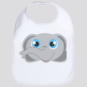 Cute Elephant Head Cartoon Bib