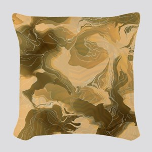 Swirling Desert Camo Woven Throw Pillow