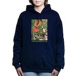 The Goose Girl_GREEN Women's Hooded Sweatshirt
