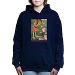 The Goose Girl_RED Women's Hooded Sweatshirt