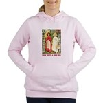 Snow White and Rose Red_red Women's Hooded Swe