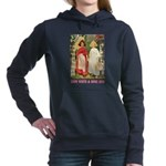 Snow White and Rose Red_pink Women's Hooded Sw