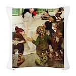 Snow White 2 RED Woven Throw Pillow