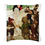 Snow White Woven Throw Pillow