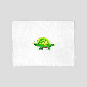 Green and Purple Spiky Dinosaur 5'x7'Area Rug