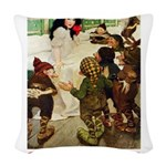 Snow White 2 PINK Woven Throw Pillow