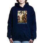 Snow White 2 BLUE Women's Hooded Sweatshirt