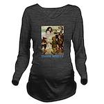 Snow White 2 BLUE Long Sleeve Maternity T-Shir
